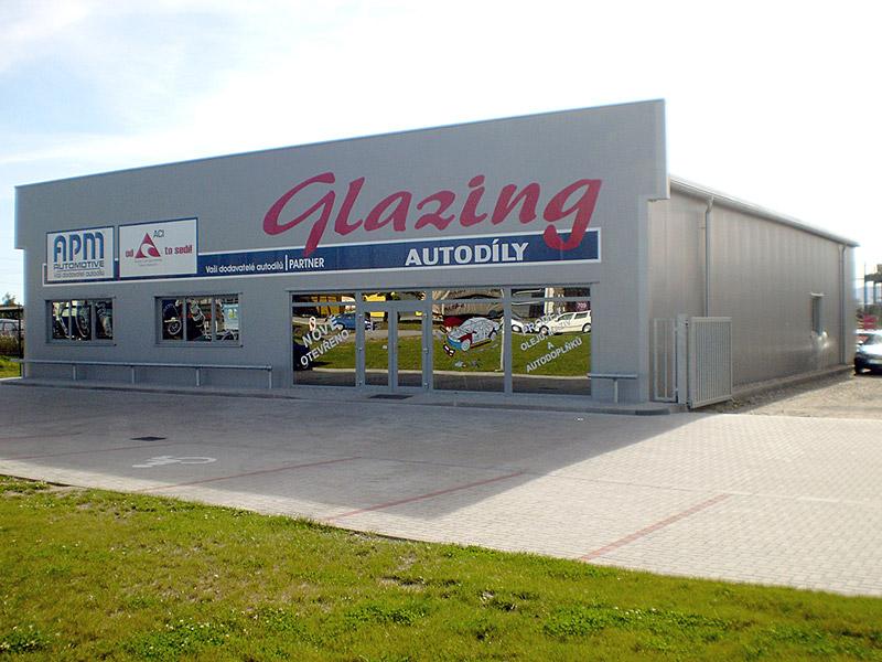 Skladová hala<br />Autosklo Glazing